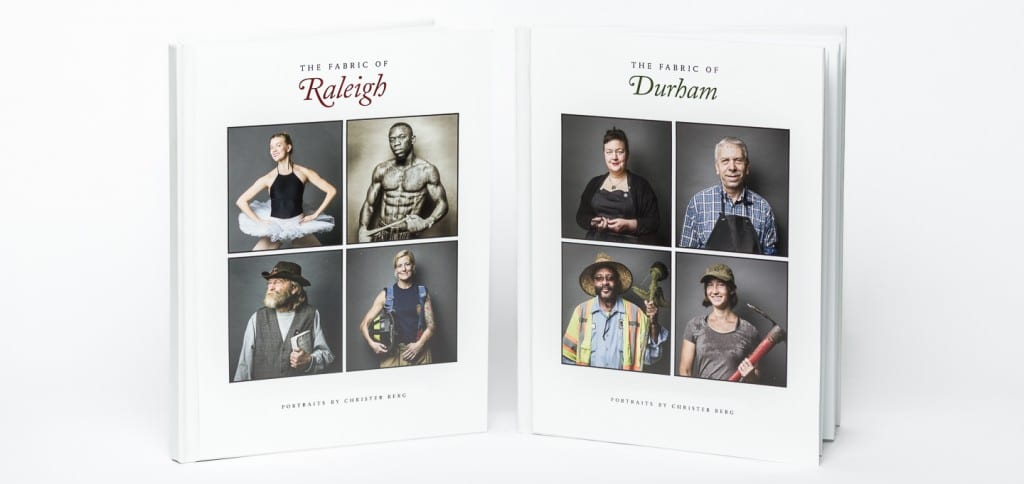 The Fabric of Raleigh and The Fabric of Durham dual front covers