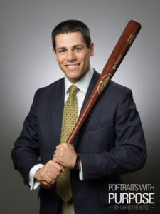 Business Headshot with Baseball Bat